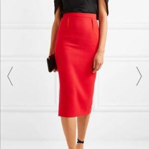 Theory Midi Skirt in Red